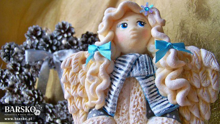 Anioł Zimowy z masy solnej