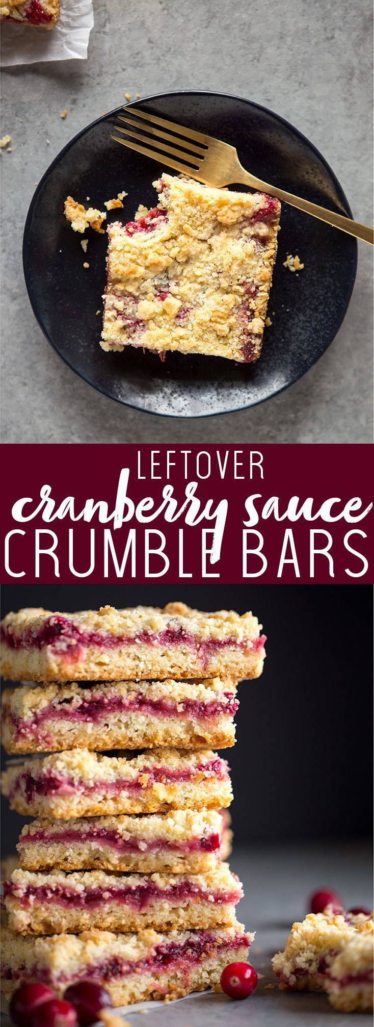 Leftover Cranberry Sauce Crumble Bars | Thanksgiving Leftover Ideas | Thanksgiving Leftover Recipes | Leftover Cranberry Sauce Recipe | Easy thanksgiving leftover recipes | Thanksgiving Left Over Recipes | Day after Thanksgiving Breakfast idea | what to make with thanksgiving leftovers
