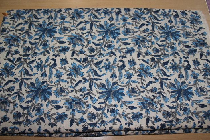 5 yard Hand Printed Hand Made Cotton Fabric Block Print Sanganeri Print Cotton Fabric by BLOCKPRINTFABRIC on Etsy