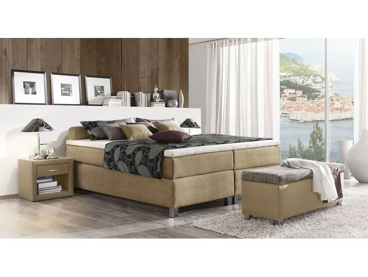 120x200 Boxspringbett Kopfteil Liege Ohne Sandfarben Tib Boxspringbett Ohne Kopfteil 120x200 Cm Sandfarben In 2020 With Images Bed Without Headboard Bed Box Spring Bed