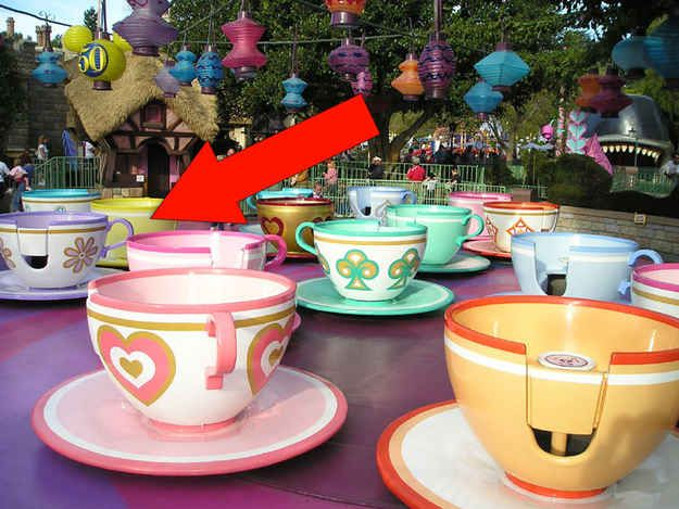 Ride in the purple tea cup in the Mad Hatter ride — it spins the fastest. | 16 Awesome Hidden Gems You Must Experience At Disneyland