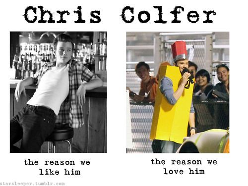 chris colfer: the reasons we like and love him.