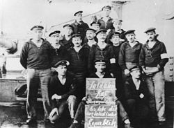 Kiel Mutiny - Text supplied by the German Federal Archive together with the photo: With the rebellion of the sailors and workers on 3 November 1918 in Kiel the November revolution starts. On 6 November the revolutionary movement reaches Wilhelmshaven. Our picture shows the soldiers' council of the Prinzregent Luitpold.