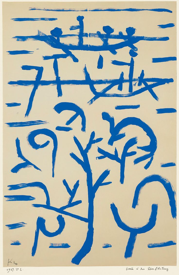 """""""Boats in the Flood,"""" 1937, Paul Klee. Dimensions: 49.5 x 32.5 cm."""