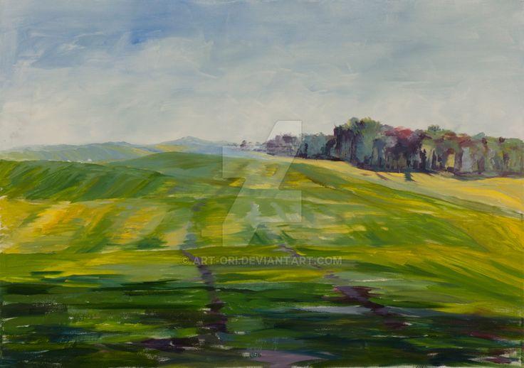 Spring field by art-ori.deviantart.com on @DeviantArt
