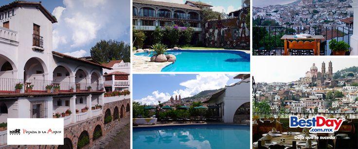 Posada de la Misión-Hotel Museo Jardín tiene una bella arquitectura colonial que captura la esencia de #Taxco, encantador poblado reconocido en el mundo por sus artesanías de plata. Vive un #BestDay en Taxco en Posada de la Misión. #ViajerosPatrios #OjalaEstuvierasAqui