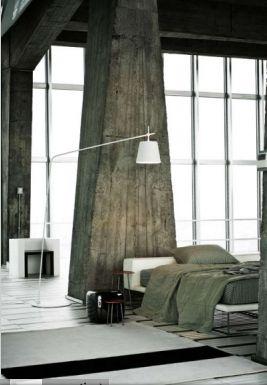 :: BEDROOMS :: INTERIORS :: the exposed concrete columns