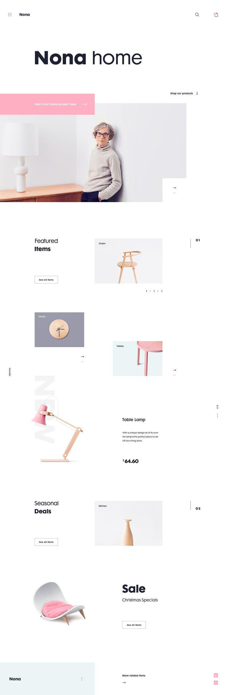 Minimal and Clean Web Design for Nona Home