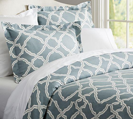 modern master bedroom with threshold seersucker duvet cover set | 34 best Master Bedroom images on Pinterest