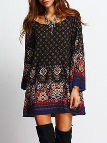 robe imprimé vintage