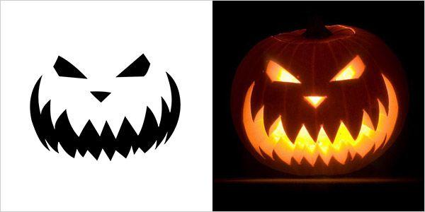Scary Pumpkin Carving Stencil Pumpkin Stencils For Faces