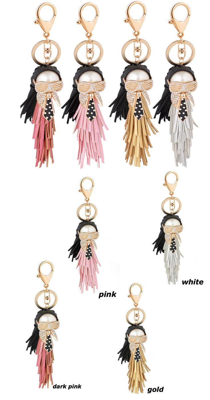 Keychain Accessories Bags, Keychain Tassel Leather, keychains Karl, key gifts