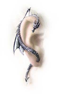 Alchemy Gothic The Dragon's Lure Earring Cuff - $41