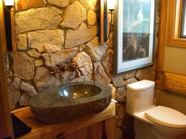 Ordinaire Moder Log Home Bathrooms Design Ideas, Pictures, Remodel, And Decor   Page  32