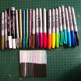 A Pretty Talent Blog: Comparing and testing permanent markers for craft purposes