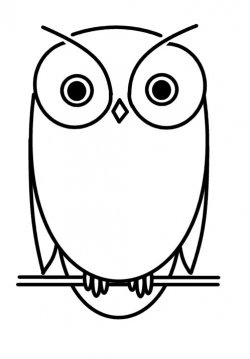 small simple owl drawing - Google Search
