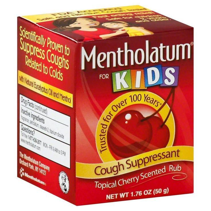 Mentholatum For Kids Cough Suppressant Topical Rub, Cherry Scented - 1.76 oz jar