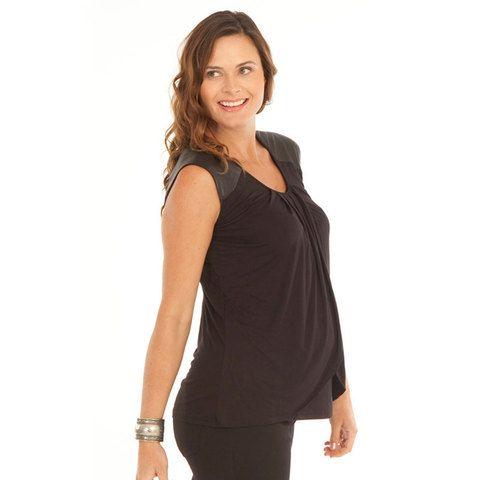 maternity petal nursing tank top | stretchy bamboo basic tank | breastfeeding clothing