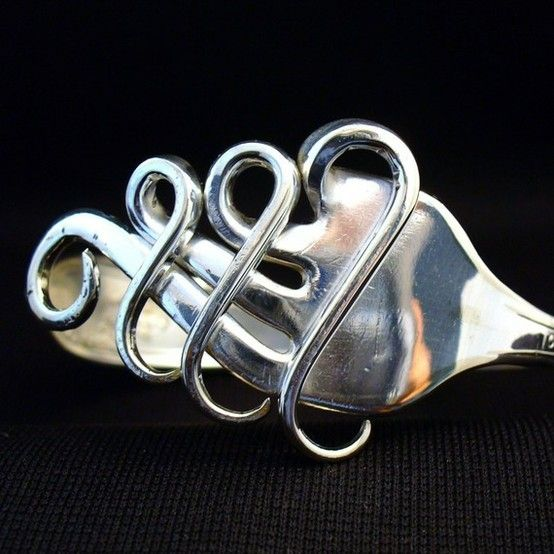 Fork Cuff  Bracelet Made from an Antique Silver by forkwhisperer, $44.99 AMAZING!!!!!!!!!