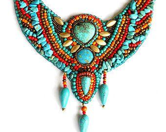 Tribal Psy Neon Boho African Tuareg inspired by AniDandelion