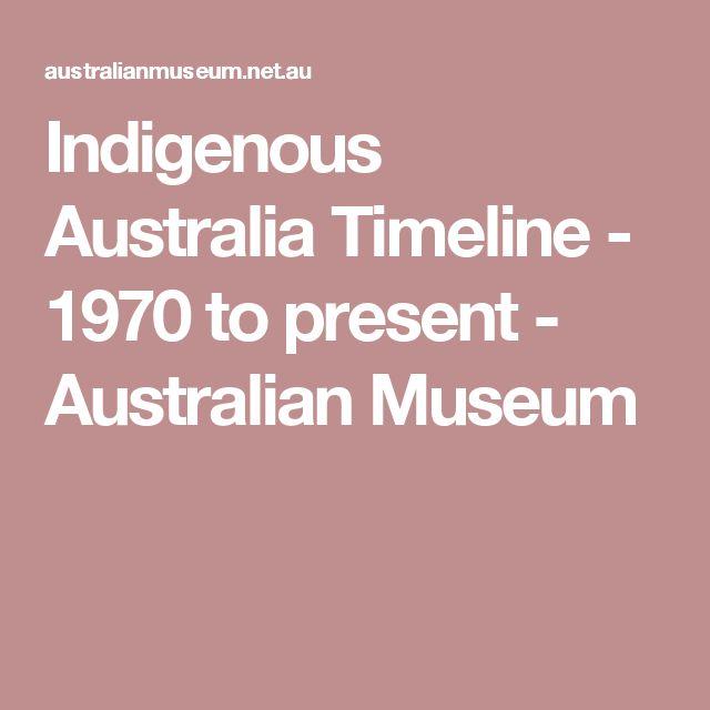 Indigenous Australia Timeline - 1970 to present - Australian Museum