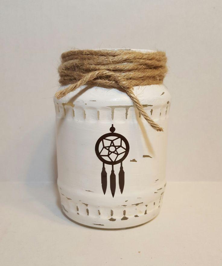 Rustic tea light holder, dream catcher decor, , southwestern decor, Native American decor, dream catcher votive holder, southwest votive by KimmsHomeDecor on Etsy https://www.etsy.com/listing/243848138/rustic-tea-light-holder-dream-catcher