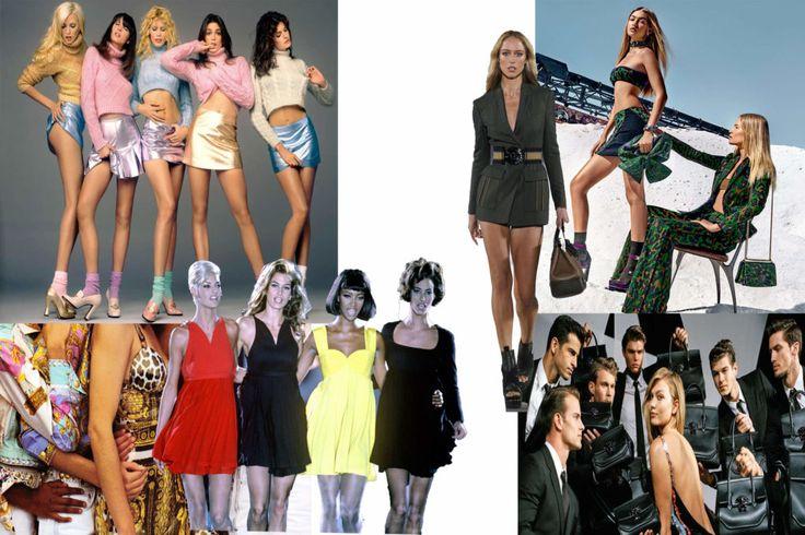 Le super modelle di Versace durante gli anni '90 / Lo stile classico ed impostato delle ultime campagne
