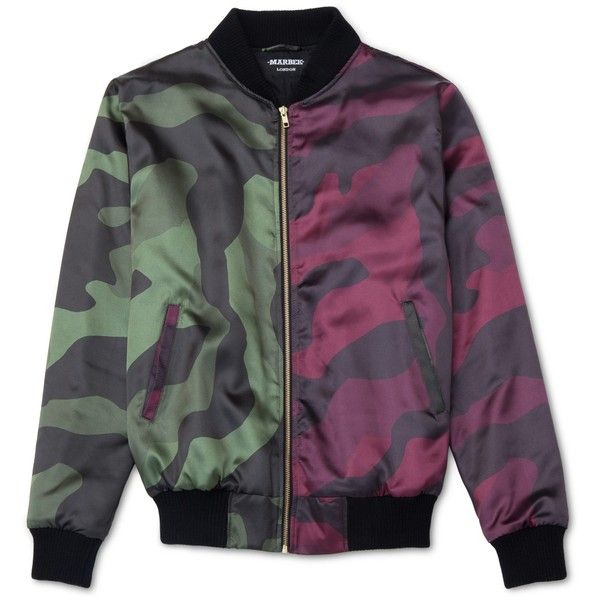 Marbek - Marbek Split DPM Jacket ($180) ❤ liked on Polyvore featuring men's fashion, men's clothing, men's outerwear and men's jackets