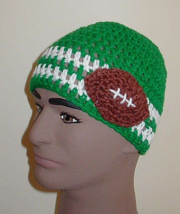 Double Crochet Sports Hat Patterns - variations for baseball, basketball, soccer, etc.