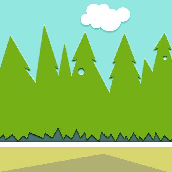 barnrum - tema skog