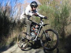 motorized mountain bike | ... mountain bike suspension brakes and wheels 125cc pit bike motor custom