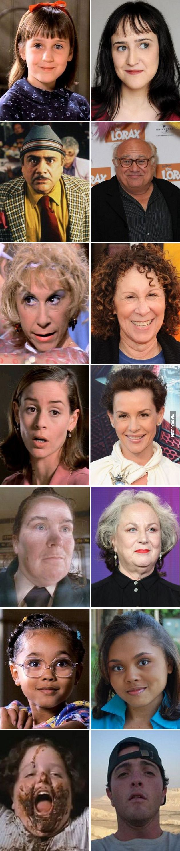 Matilda Characters Then and Now