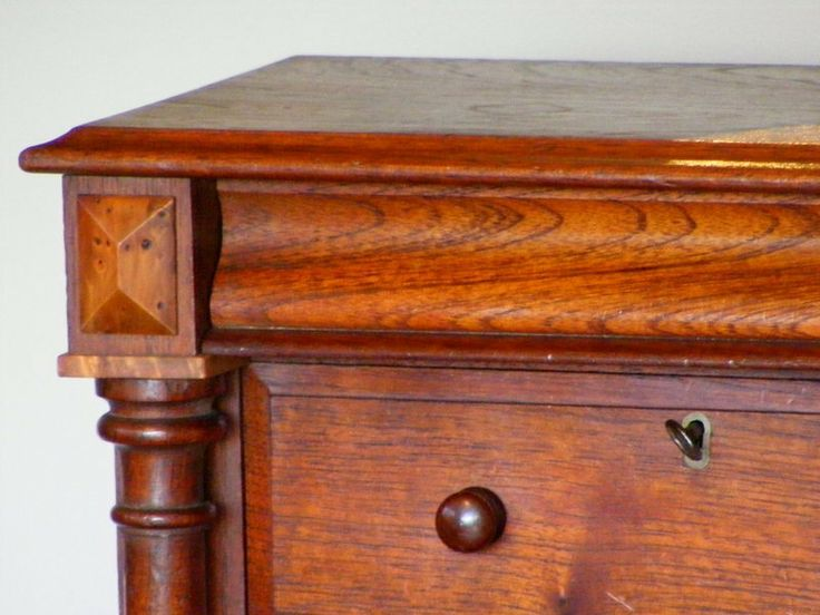 AUSTRALIAN COLONIAL CEDAR & HUON PINE MINIATURE CHEST. X Chantilly Antiques