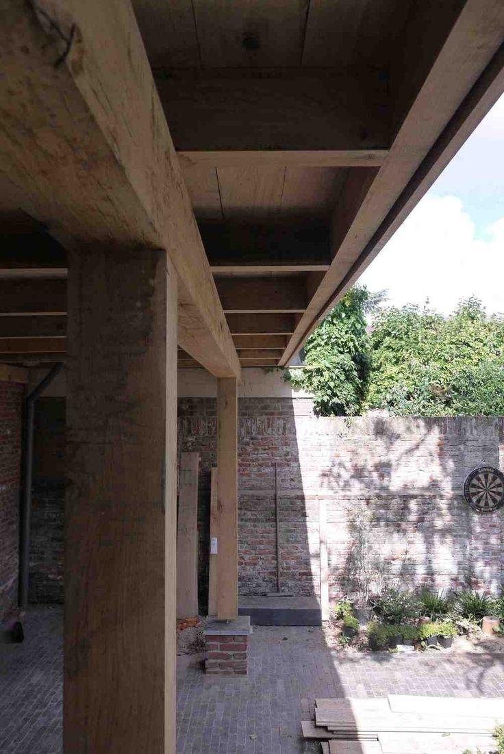 houten veranda in landelijke stijl