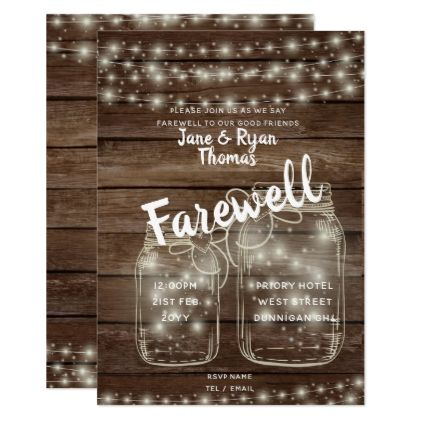 Rustic Farewell Leaving Party Barn Theme Invites - barn gifts style ideas unique custom