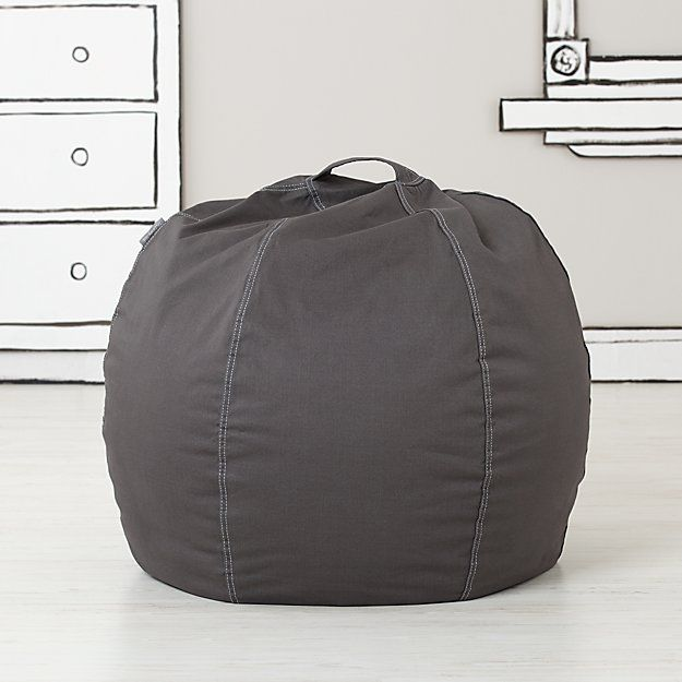 Small Grey Bean Bag Chair | The Land of Nod