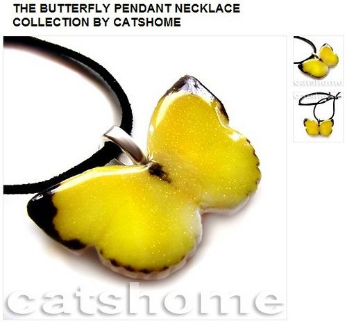 THE BUTTERFLY PENDANT NECKLACE COLLECTION BY CATSHOME