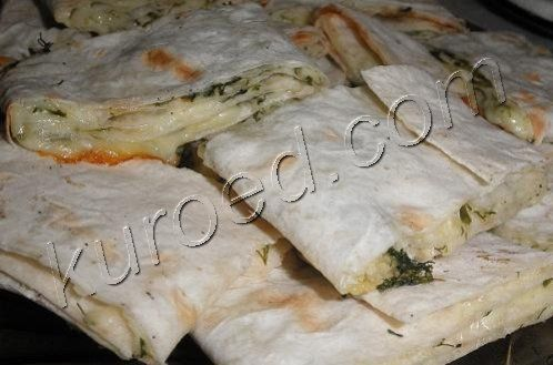 рулетики из лаваша с сыром и зеленью