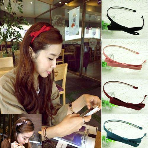 Cute Fashion Korea Style Bowknot Hair Band Sweet Bow Tie Headband Accessory   eBay