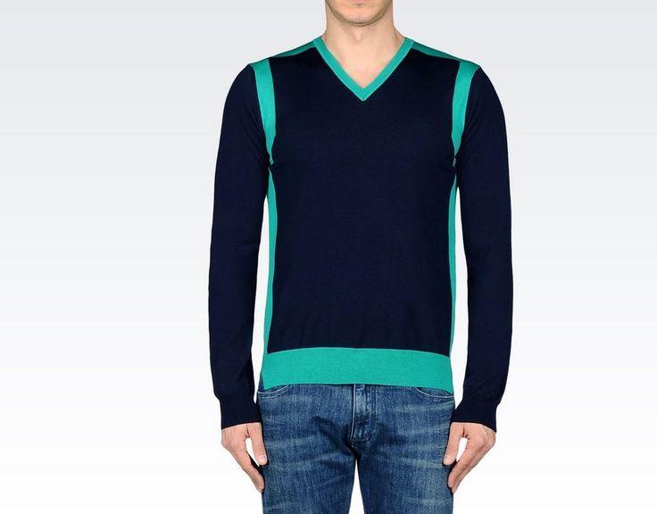 Emporio Armani uomo primavera estate 2015: il Meglio della Pre Collezione Emporio Armani uomo primavera estate 2015 maglione v