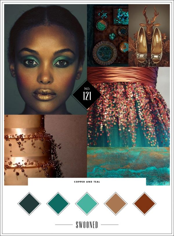 More Copper and teal!I like the color scheme below has a bit more flavor