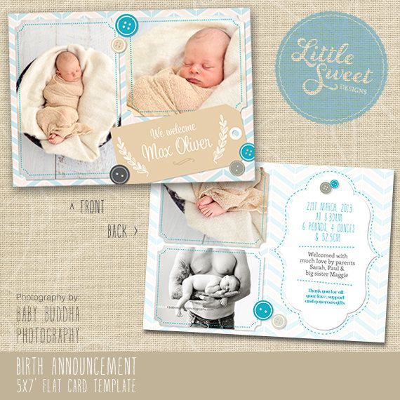Best 25 Birth announcement template ideas – Birth Announcement Photoshop Template