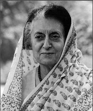 Indira Gandhi, former Prime Minister of India.