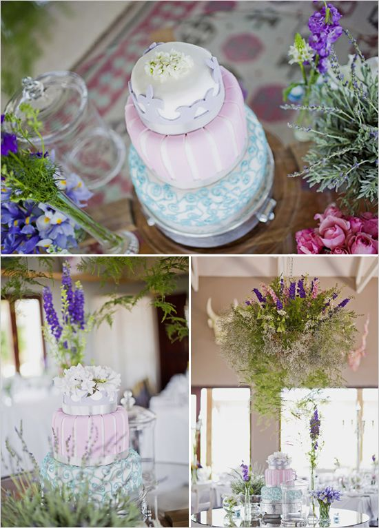 Pastel wedding cake-  great colour for summer wedding
