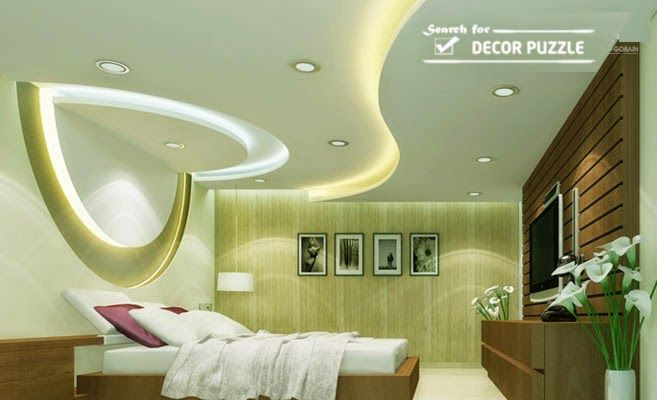 POP design for bedroom roof, pop false ceiling LED lights