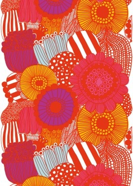marimekko flower print - love these colours together. should try to recreate