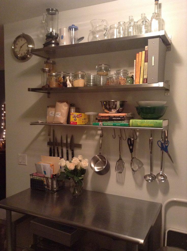Ikea Ekby Mossby Amp Grundtal Shelving Bungalow Kitchen