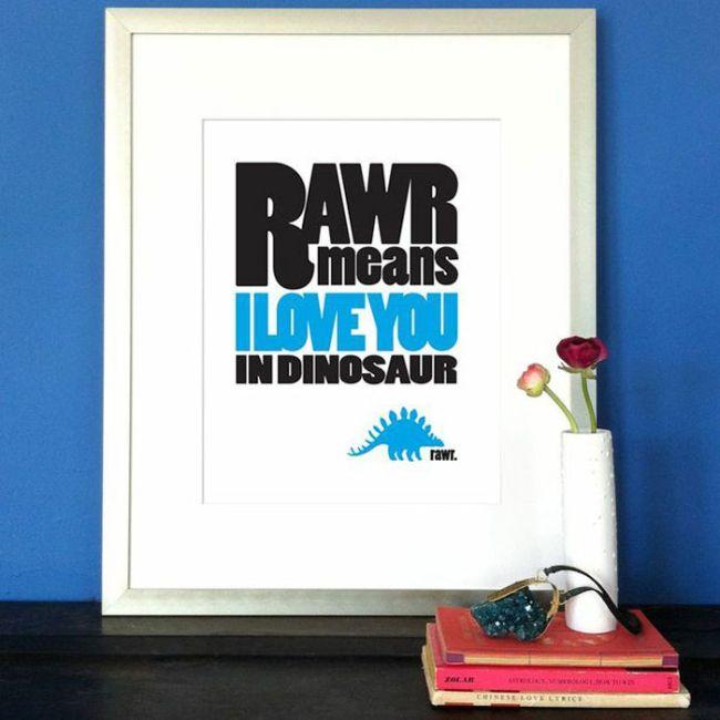 rawr <3 for my boys room : )