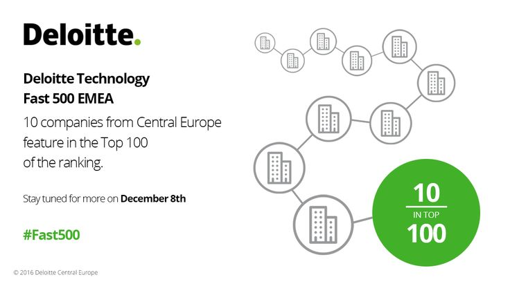 Deloitte Technology Fast 500 EMEA. 10 companies from Central Europe are featured in the top 100 of the ranking.  #Fast500 #Fast500EMEA #Deloitte #CE #CentralEurope #Technology #Fast #500 #EMEA