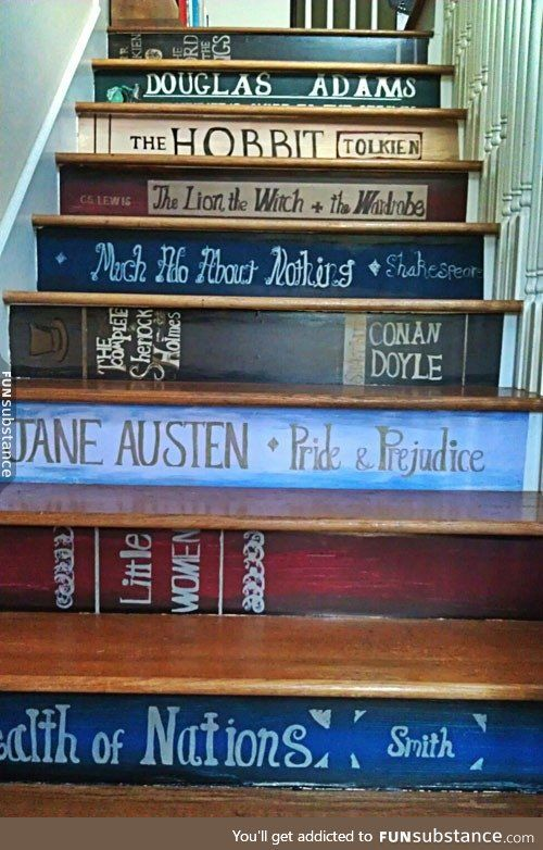 Wonderful book staircase: which titles would appear on yours?